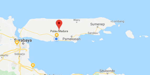 Pulau madura by google map
